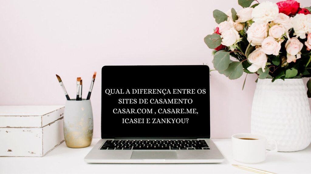 computador mostrando o título com as diferenças de site de casamento