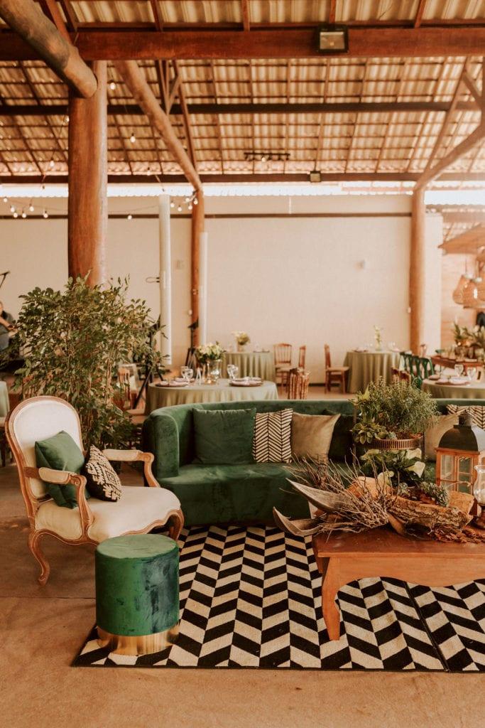 lounge rústico de casamento