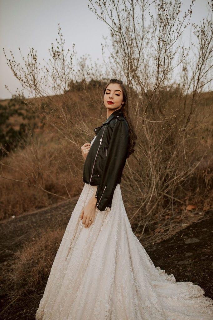 noiva de jaqueta